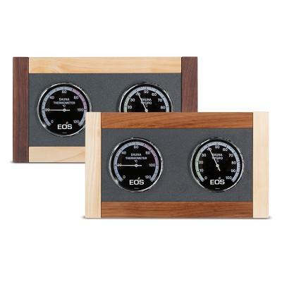 Комплект термометр і гігрометр для сауни D (горіх)