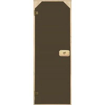 Двері для сауни трапеція, тонуючі, Bronze