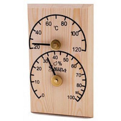 Термометр для Бані і Сауни SAWO прямокутний 106-T-Н (сосна)