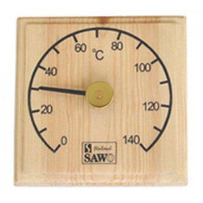 Термометр для Бані і Сауни SAWO квадратний 105-T (сосна)