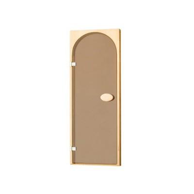 Двері для сауни арочні, тонуючі, Bronze