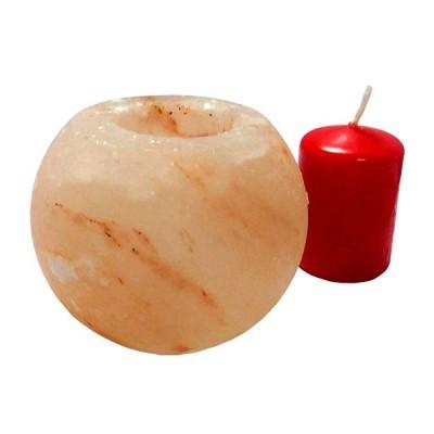 Гімалайська рожева сіль. Підсвічник Куля