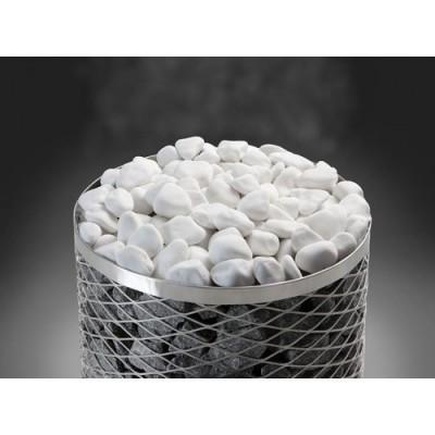 Камінь для сауни шліфований, декоративний, білий, <10 см